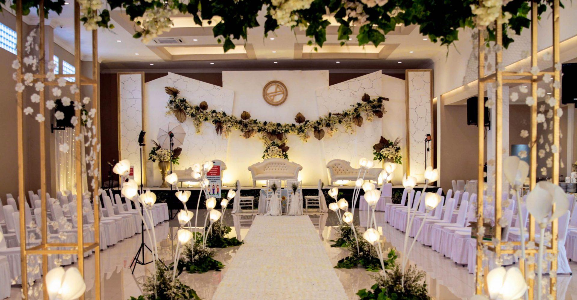 dekor gedung pernikahan bekasi grand karunia function hall